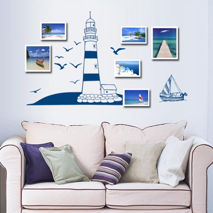 Blue Seaside Lighthouse Vinyl Wall Stickers For Kids Bedroom Living Room Home Decor Pvc Sticker Ay008 In From Garden On