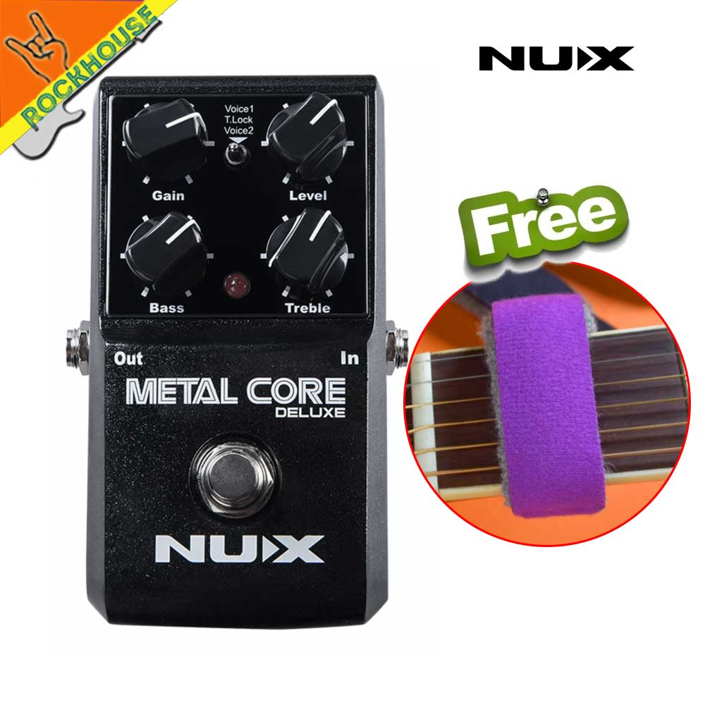 NEW NUX Metal Core Deluxe Extreme distortion guitar effect pedal high-gain heavy rock Effects upgradable stompbox free shipping nux hg 6 guitar distortion high gain electric effect pedal true bypass for heavy metal rock solo durable guitar parts accessory