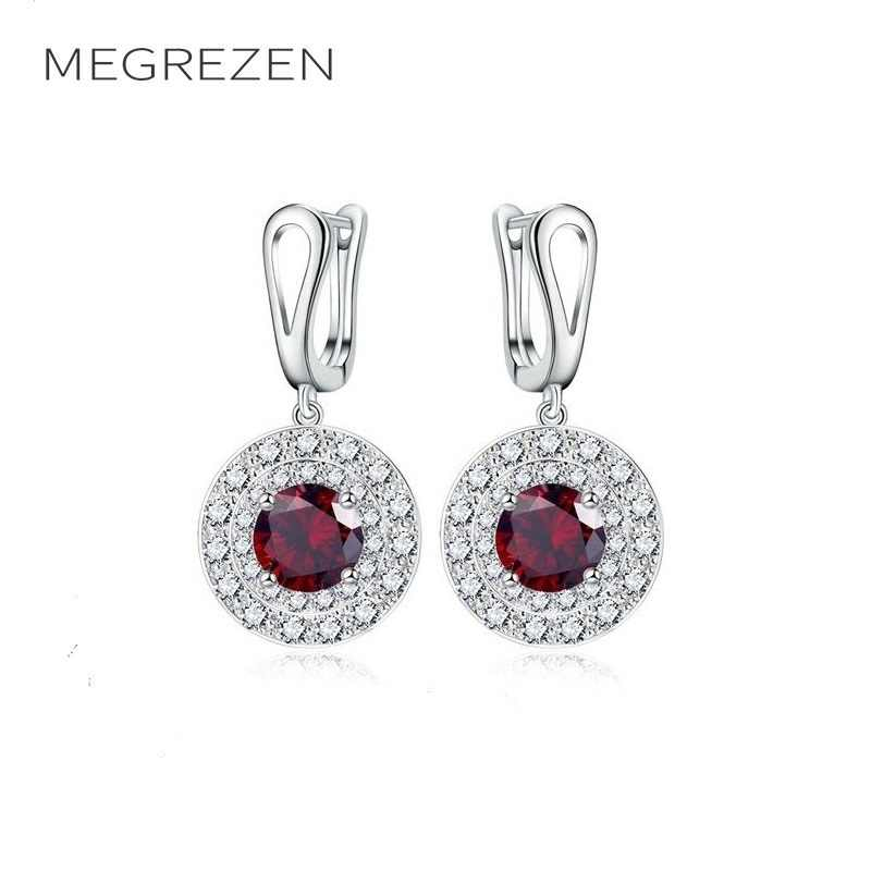 Bridal Earrings With Blue Stone Red Crystal Large Earings Fashion Jewelry India 2018 Boucles D'Oreille Women Oorbellen Ye002-4