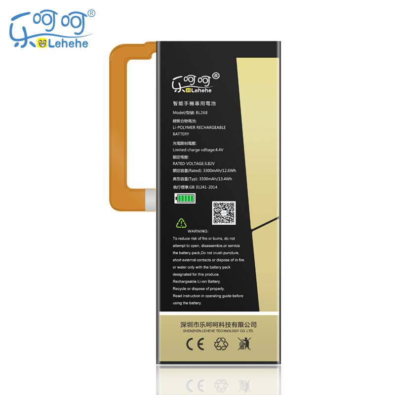 New Original LEHEHE Battery BL268 For Lenovo ZUK Z2 3500mAh Mobile Phone replacement High Quality Battery free tools Gifts
