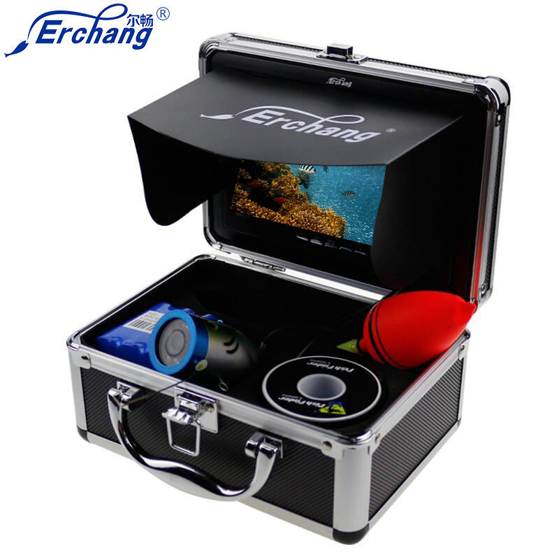 Erchang Ice Underwater Fishing Video Camera Fish Finder In English 1000TVL 7Color Sea Fishing Monitor Infrared LED Fishfinder маска barex maschera velluto olio di argan e di olivello spinoso