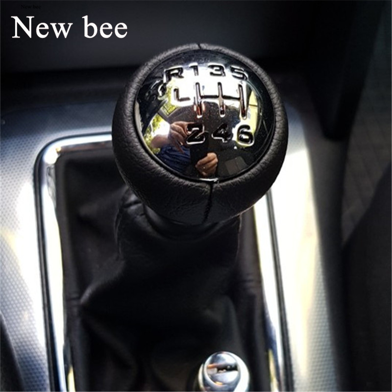 Рукоятка для рычага переключения передач Newbee, 6-скоростная рукоятка для Peugeot 307 308 3008 407 807 Partner B9 Tepee Citroen C3 (A51) C4 Picasso