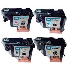цена на Compatible C4820A / C4821A / C4822A / C4823A printhead cartridge for HP Designjet 1000 1000plus 1050 1050c 1055 Printer for hp80