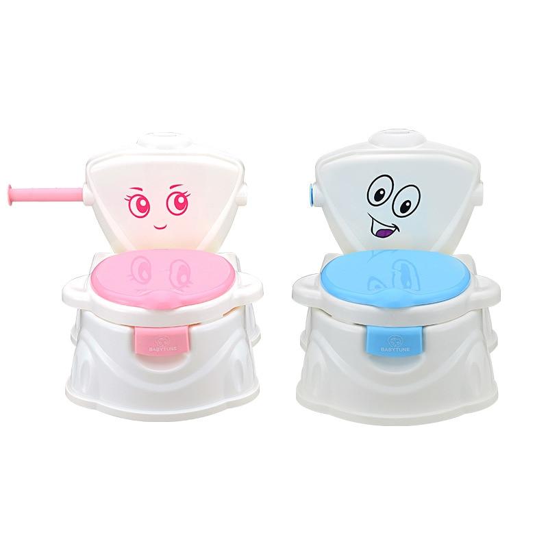 Portable Baby Potty Cut Cartoon Musical Baby Toilet Car Children's Potty Child Potty Chair Training Girls Boy Kids Toilet Seat