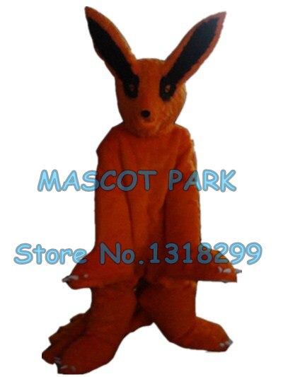 Плюшевых Fox талисмана девять хвост лиса Пользовательские взрослый размер Герой мультфильма Cosply Карнавальный Костюм 3192