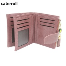 hot deal buy short women wallets genuine leather tassel small wallets solid pattern womens wallets and purses with card holder