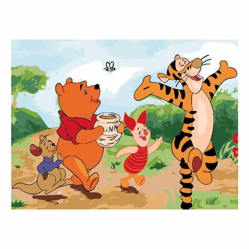 Winnie The Pooh Dan Tiger Dengan Angka Modul Gambar Gambar Dengan Tangan Hadiah Yang Unik Dekorasi Rumah Untuk Anak Anak Pictures Tiger Dekorasi Rumahhadiah Unik Aliexpress