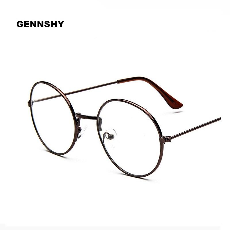 55e12b607f 2018 Korean Metal Optical Frame Women Men Retro Round Thin Eyeglasses  Vintage Artistic Glasses Frame Double Color Gold Black-in Eyewear Frames  from Apparel ...