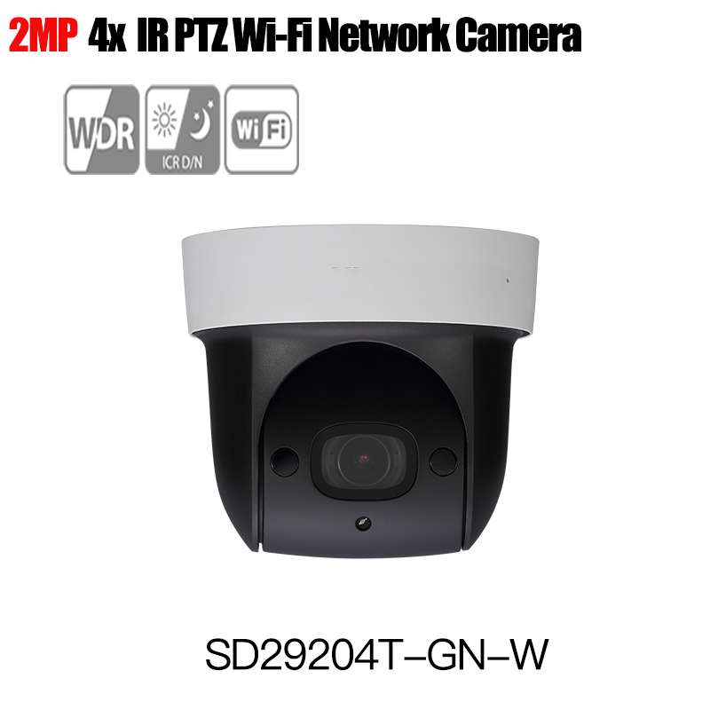 цена на Dahua wireless PTZ IP camera SD29204T-GN-W Built-in Mic 1080p onvif 2Mp Network WIFI PTZ IP Speed Dome Camera DH-SD29204T-GN-W