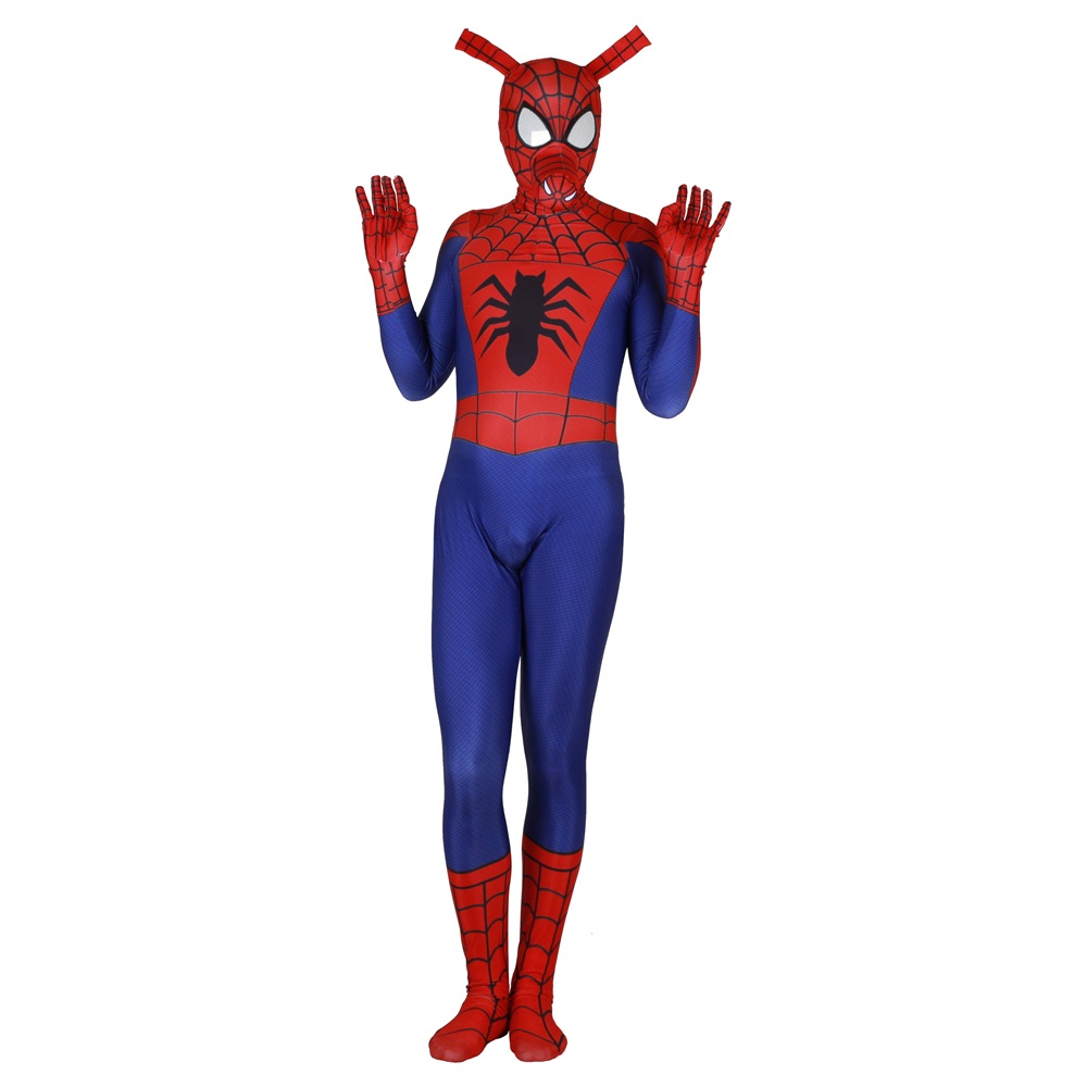 Adult Kids Spider Ham Peter Porker Cosplay Costume Zentai Spiderman Superhero Bodysuit Suit Jumpsuits in Movie TV costumes from Novelty Special Use