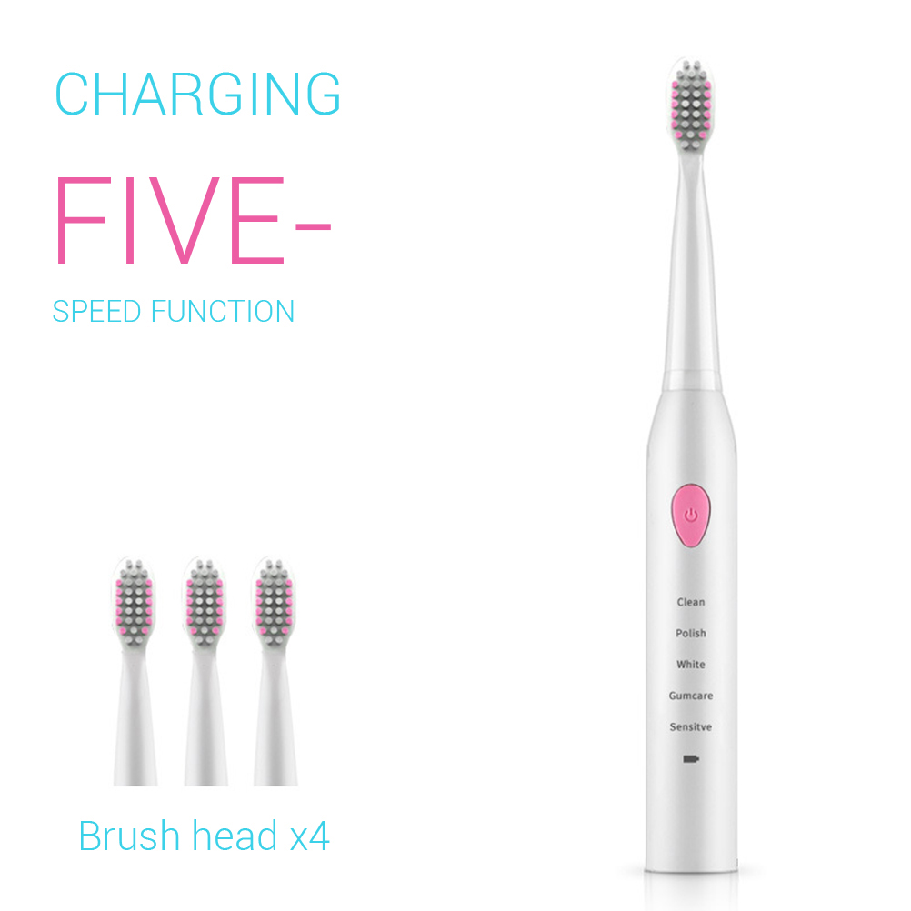 Electric Sonic Toothbrush Adult Electric Toothbrush Rechargeable Sonic Toothbrush 5 Optional Modes Travel Toothbrush Effectively(China)