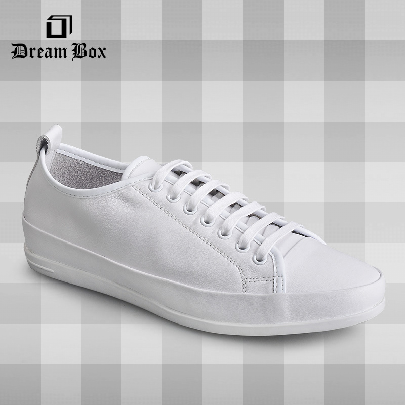 dreambox Men's Sneakers Solid Color All Match Casual Shoes  Male dermis small white dreambox 800 hd крайот