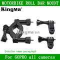 Kingma go pro roll bar mount para gopro hero 1 2 3 4 SJ4000 Cámara Moto Manillar Tija Pole Roll Bar Mount Envío Gratis
