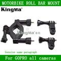 Kingma ir pro roll bar mount para gopro hero 1 2 3 4 SJ4000 Câmera Moto Guidão Selim Pólo Roll Bar Mount Frete Grátis