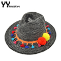 Winter Kint Fedoras for Women Trilby With Colorful Pompom Cute Felt Hats Girls Knitting Panama Hat Jazz Caps 4 Colors YY60533