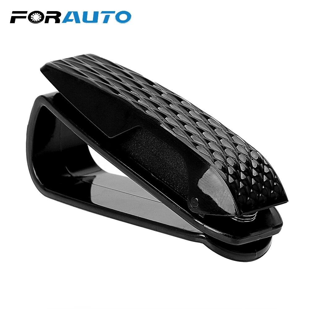 Автомобильный чехол FORAUTO для очков, автомобильные аксессуары, держатель для очков, солнцезащитный козырек, зажим для очков, портативный авт...