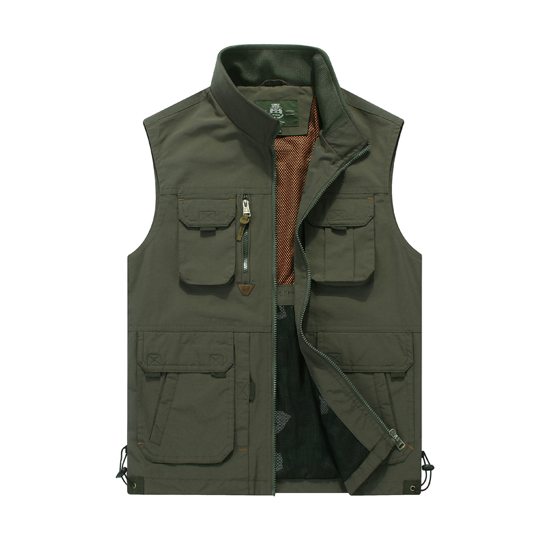 Brand outdoor sports vest men multi pockets stand collar Spring & Autumn vest high quality photography shooting hiking vest summer outdoors tactical mesh multi pockets vest men breathable shooting director photographer hunting hiking vest big size 6xl