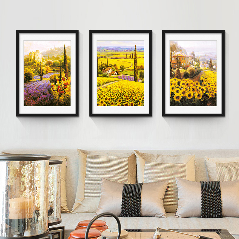 3panel Framed Painting Canvas Decorative Sunflowers Picture Of Modern Home Bedroom Wall Art