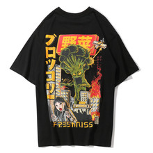 Crazy Vegetables Printed Harajuku Japanese Short Sleeve T Shirts Streetwear Hip Hop Casual Tee Shirts Male Tshirts Tops цена