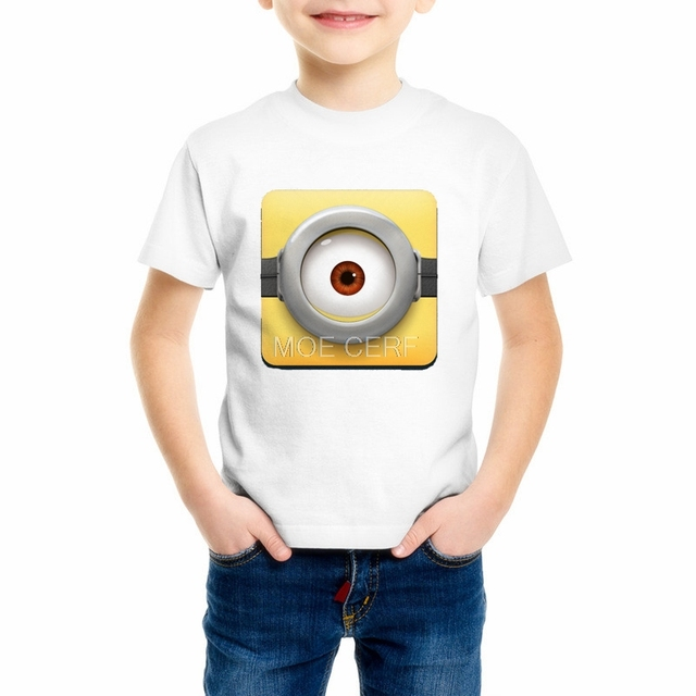 Minions Funny T Shirt Boygirl Hot Sale Summer Despicable Me 2 Cool