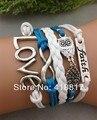 Infinity Bracelet, Faith Bracelet, Silver Owl Bracelet, Love Braclet