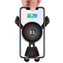 X8 Gravity Car Phone Holder Wireless Charger 10W Fast Charge Air Vent Stand For 4-6.5-Inch for Samsung Galaxy iPhone Xiaomi
