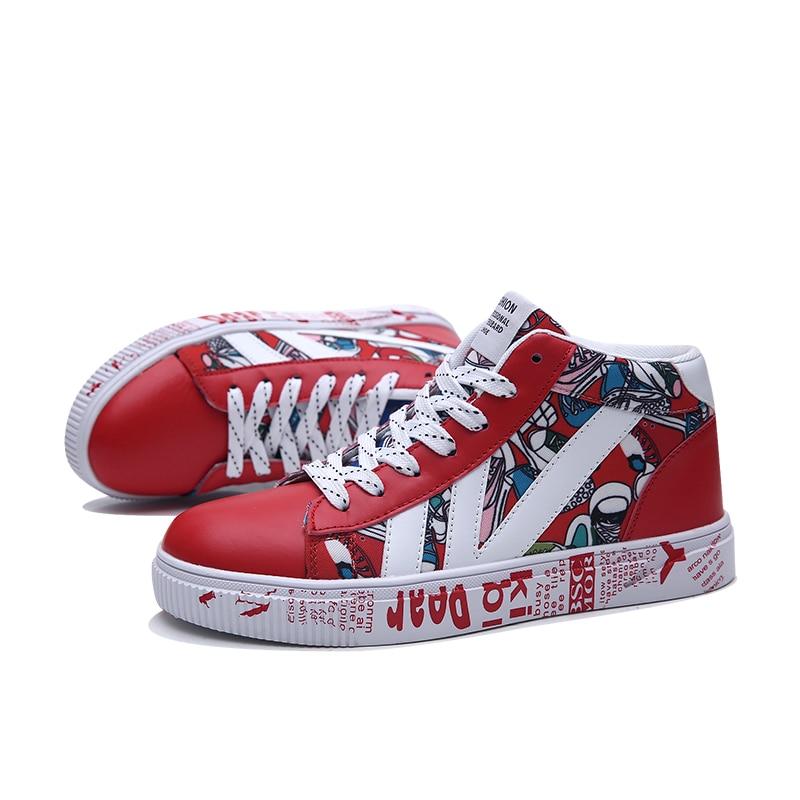 Us 2081 40 Offaliexpresscom Buy Shoes Men Graffiti Men Sneakers Tenis Masculino Adulto Casual Shoes Zapatos De Hombre Outdoor Shoes Mens Lover