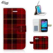 Tartan Design For Samsung Galaxy Core Prime G360 G360H Galaxy Grand Prime G530 Flip PU Leather