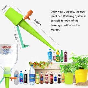 Image 2 - 20 adet/takım bahçe koni tembel kontrol ayarlanabilir otomatik sulama kitleri bitki çiçek sulama şişe sulama sistemi damla gemi