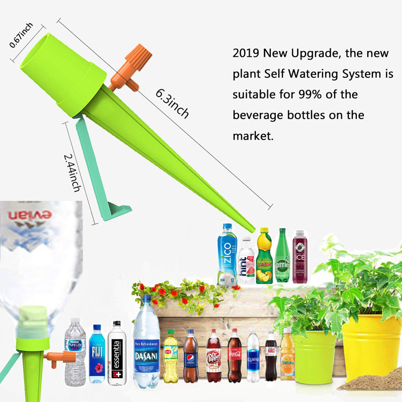 Image 2 - 20Pcs/set Garden Cone Lazy Control Adjustable Automatic Watering Kits Plant Flower Waterers Bottle Irrigation System Drop Ship-in Watering Kits from Home & Garden