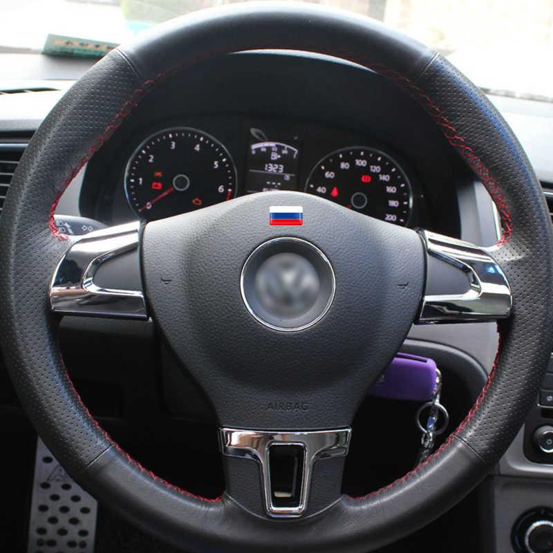 4x volante 3D bandera con escudo pegatina banderas nacionales pegatina emblema Decoración Para BMW Audi toyota ford nissan Auto Accesorios