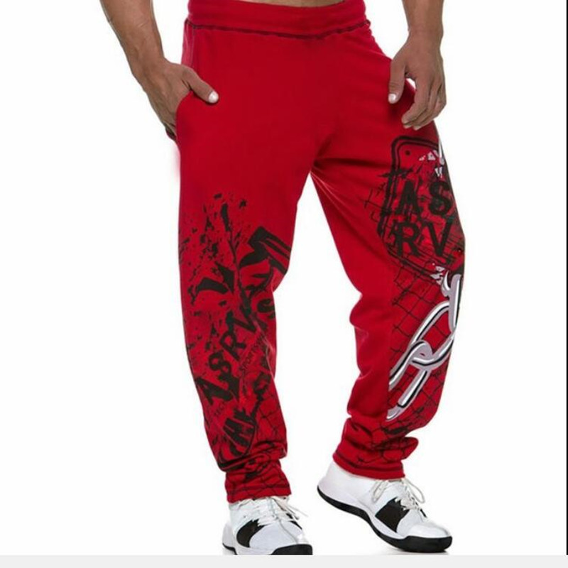 Men's Sports Pants New Printed Big Size leisure Pants Men's Guard Pants Gym trousers(China)
