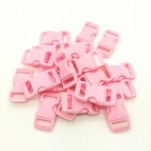 10 шт./лот 3/8 дюйма 10 мм широкая розовая контурная боковая застежка для браслета Паракорда с пластиковой пряжкой