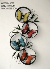 Metal Garden home decor creative butterfly mural Wall Decor retro furniture ornaments iron wall coverings