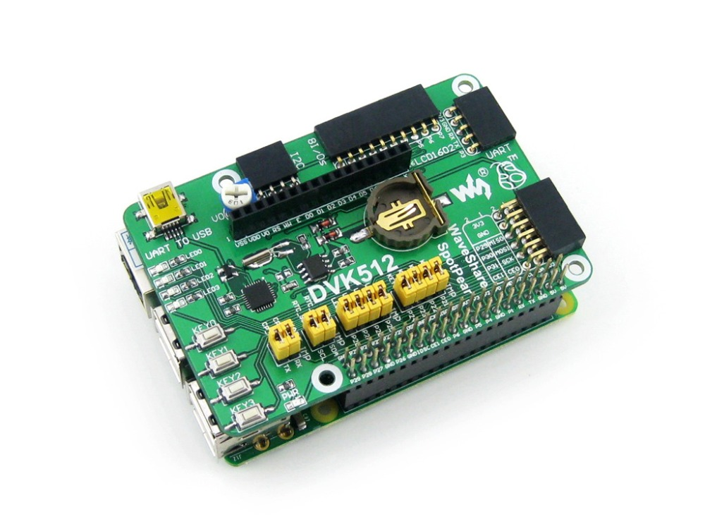 цена на Waveshare DVK512 Raspberry Pi Expansion Development Board Supports with Raspberry Pi 3B/ 2B / B+ / A+ with various interfaces