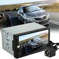 Carro-styling Dupla 2 Din Som Do Carro MP5 MP3 Player de Rádio Bluetooth USB AUX + Câmera de Estacionamento