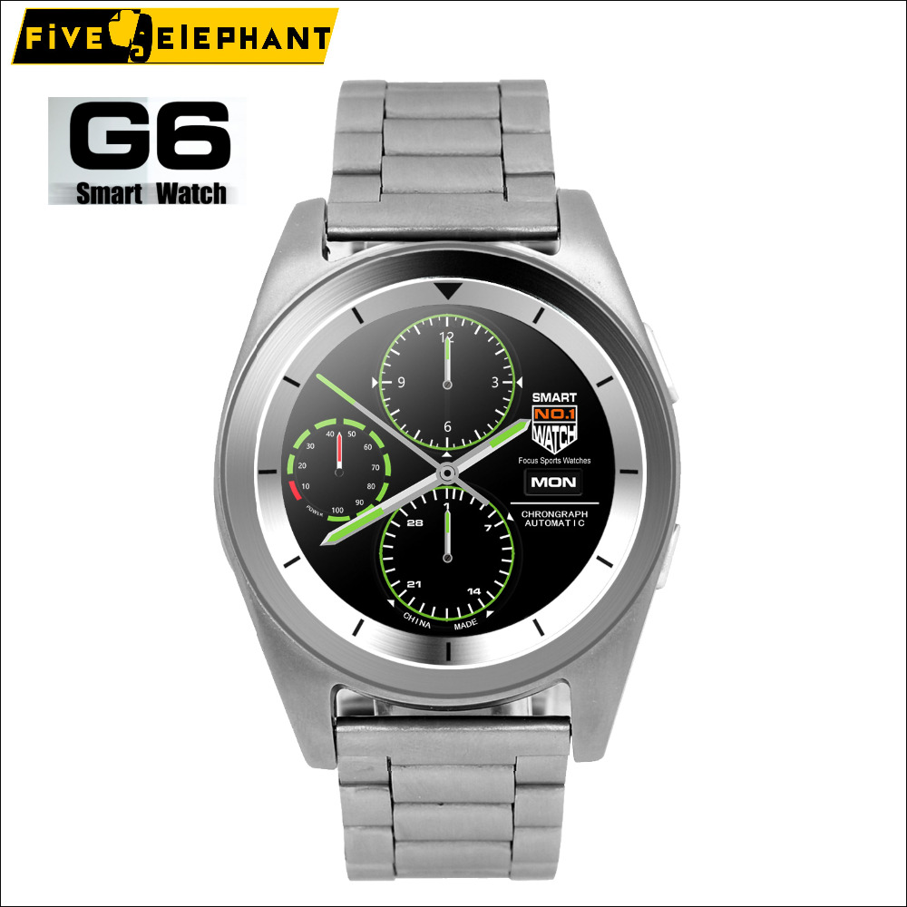 Sport Business Smart Watch G6 Bluetooth sync Smartwatch Steel Straps for iPhone Samsung for Android huawei xiaomi