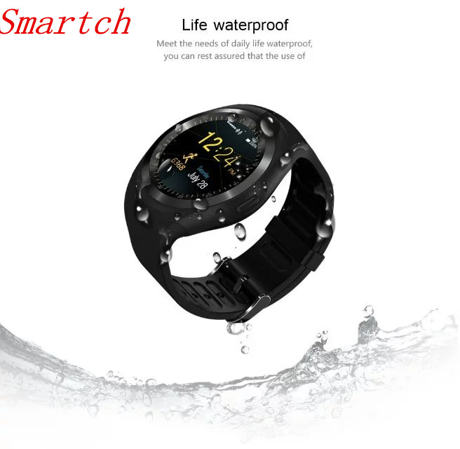 Smartch Sport Y1 Bluetooth Smart Watch Android With Shake Hand Wake Up Screen Support Facebook Whatsapp TF SIM Smartwatch