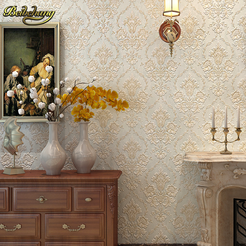 beibehang papel de parede 3D European Damask Floral wallpaper for walls 3 d wall papers home decor living room bed room flooring купить