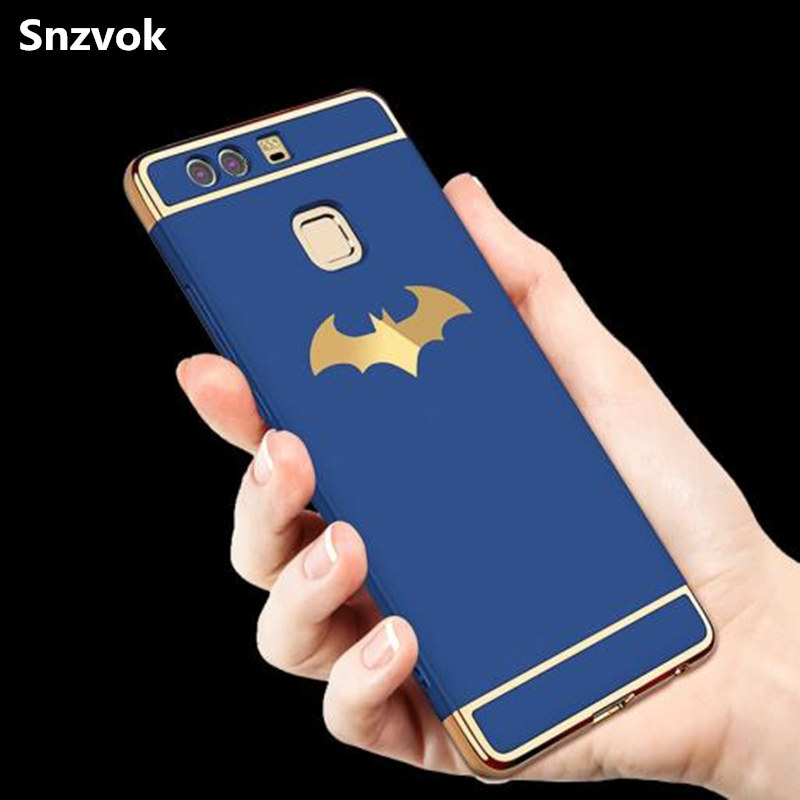 Snzvok 3D Batman 3 in 1 PC Case for Huawei MATE 7 8 9 10 PRO P9 lite G9 P9 P10 P20 Plus hard back cover for Enjoy 7 plus Play 7X