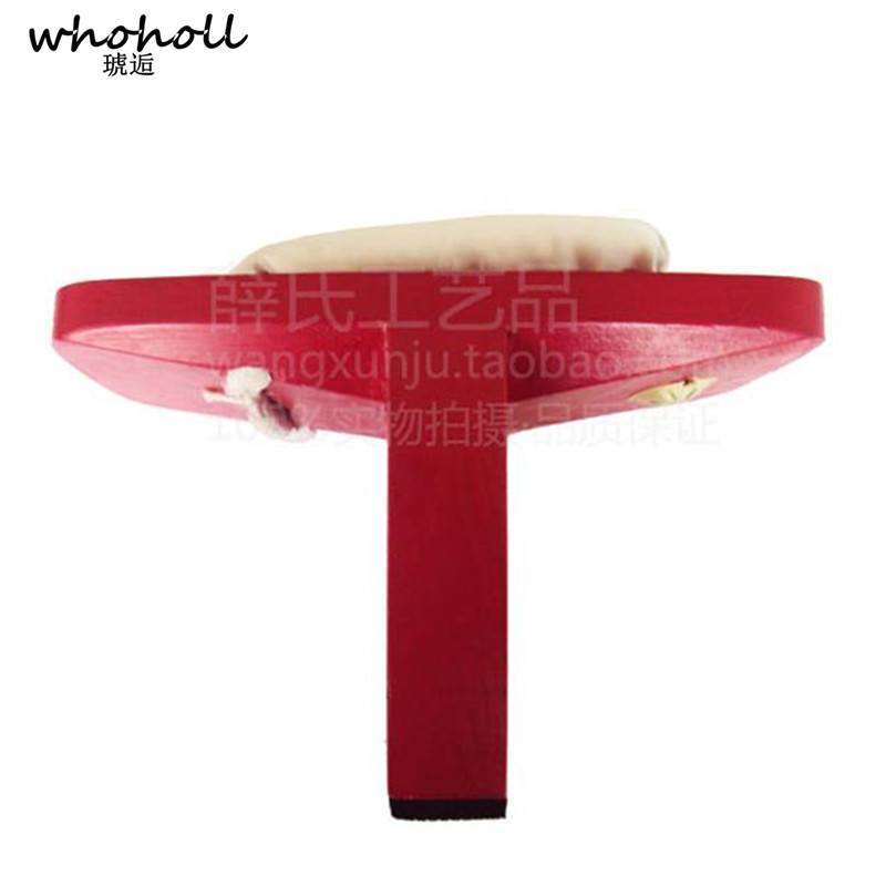 WHOHOLL Cosplay Costumes Japanese Clogs Shoes Slippers Men Women Wooden Geta Flip-flops High Single Tooth Geisha red Wooden Shoe