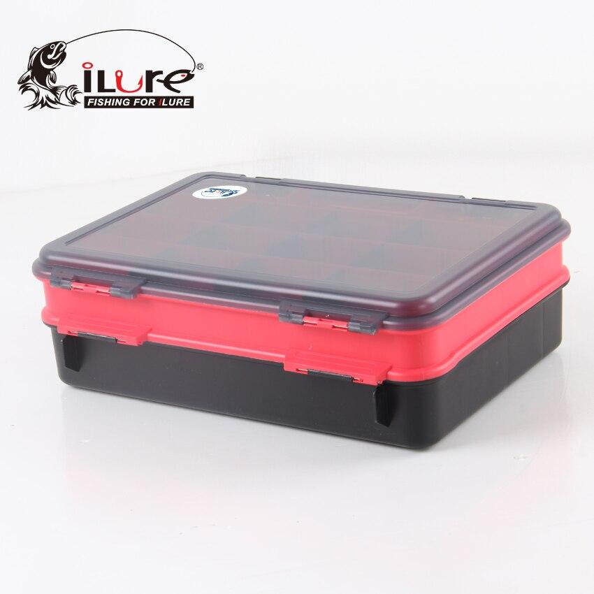 ILure 12*38.5*26 cm boîte de matériel de pêche en plastique boîte de matériel de pêche boîte d'accessoire de pêche boîte d'appât de leurre de pêche - 4