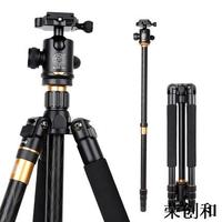 Hot sale Q999 Magnesium Aluminium tripod portable slr camera Q999 tripod monopod Variable Alpenstock 3 in1 wholese free shipping