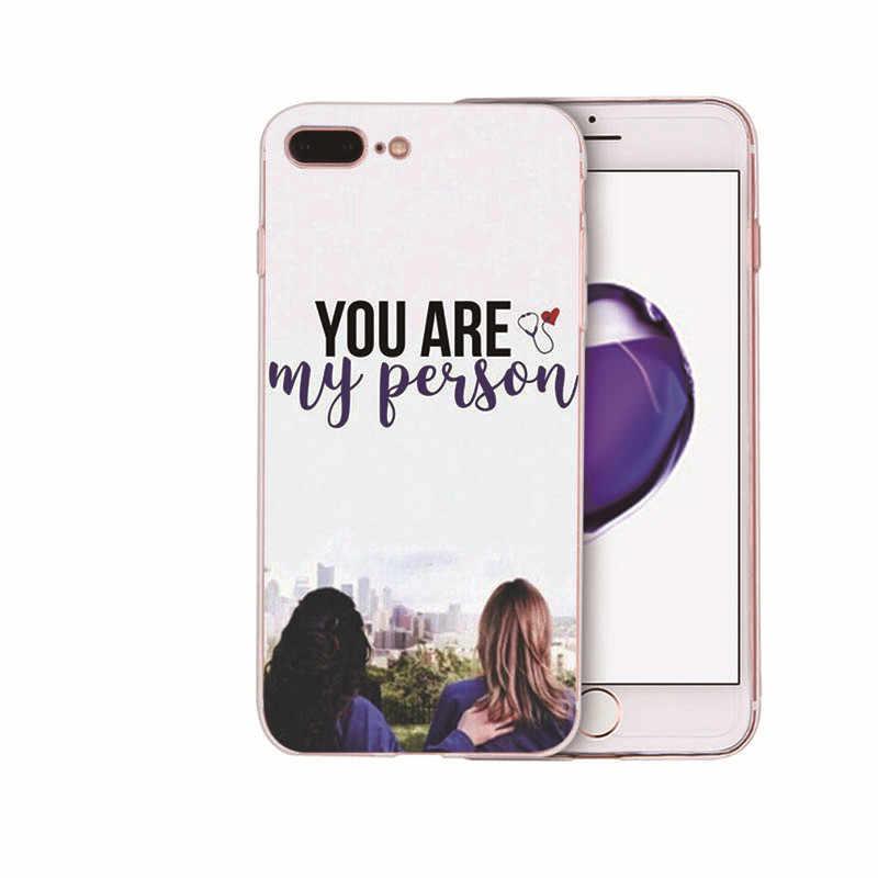 Grays Anatomy Quotes Dicetak Lembut Silicone Ponsel Case untuk iPhone X XR X Max Kembali Cover 8 7 6 6S Plus Coque SE 5S TPU Shell Capa
