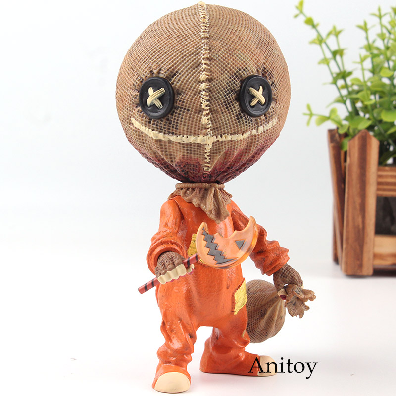 Trick r Treat Stylized Sam Action Figure PVC Mezco Toys Collection Model Doll For Halloween Toy Decoration GiftsTrick r Treat Stylized Sam Action Figure PVC Mezco Toys Collection Model Doll For Halloween Toy Decoration Gifts