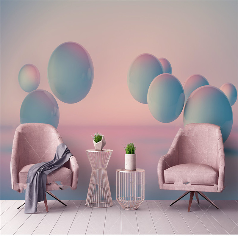 Wallpaper for Walls 3D Custom Photo Wall Murals Non-Woven Wallpapers Art Color Ball Wall Papers Bedroom Living Room Home Decor modern wall papers home decor rustic romantic small flower non woven wallpaper roll for bedroom wallpapers floral for walls