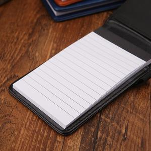 Multifunction Pocket Planner A7 Notebook Small Notepad Note Book Leather Cover Business Diary Memos Office School Stationery