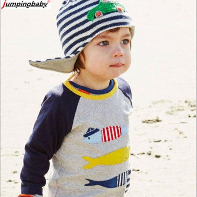 Мальчиков рубашки Длинные Рукава Мальчики Футболки Весна Дети Тис Baby Boy Марка Футболки Осень Детская Одежда Мода Мальчик Рубашка