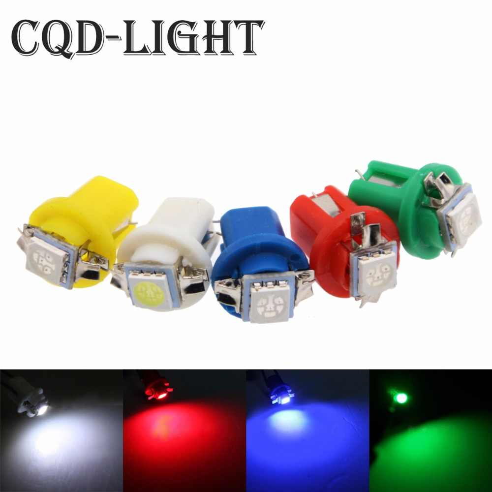 10PCS T5 B8.5D 509T 5050 SMD LED Lamp Auto Wedge Dashboard Indicator Instrument Lights B8.5 Car Gauge Speedo Dash Bulbs 12V