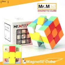 Shengshou Mr. M Магнитный магический куб 3x3x3 Stickerless 3×3 speed Cube Puzzle обучающая игрушка для профессионалов игроков детские игрушки